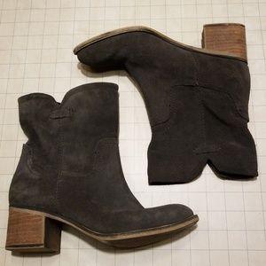 Franco Sarto Grey Suede Misson Boots Booties 7.5